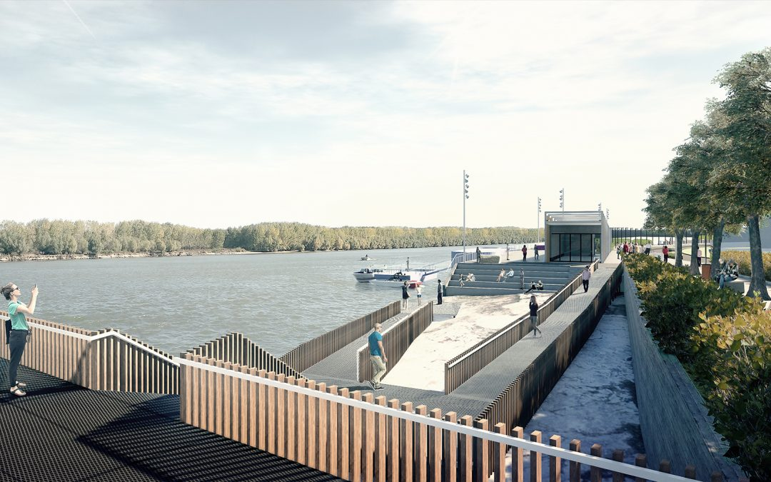 Waterfront on the Danube